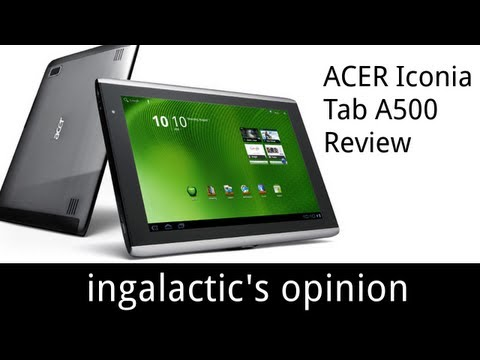 ACER ICONIA TAB A500 REVIEW   IGO   DEC 5