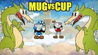 Cuphead Vs Mugman Grim Matchstick Boss Battle (Who Will Win)
