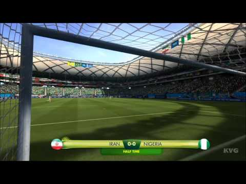 2014 FIFA World Cup Brazil - Iran vs Nigeria Gameplay [HD]