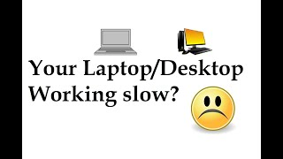 Slow Running Laptop/Desktop Solution || Din-Tech