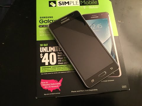 Samsung Galaxy On5 Unboxing (Simple Mobile)