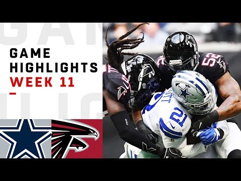 Cowboys vs. Falcons Week 11 Highlights | NFL 2018