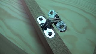 Hinge Jig. Hidden hinge. Woodworking jig for router.
