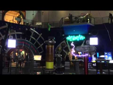 Tesla coil plays We Are Singapore