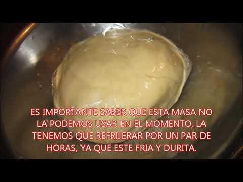 RECETA DE COMO HACER UNA BASE PARA TARTAS