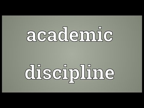 Header of academic discipline