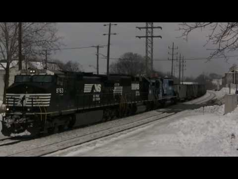 HiDef: Snow + EMD + Pushers; Interesting Valentine's Day on NS Harrisburg Line