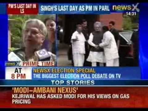 Manmohan Singh's last day in parliament as prime minister today