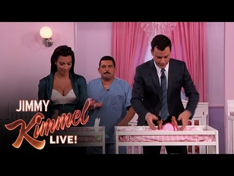 Kim Kardashian Vs. Jimmy Kimmel - Diaper Changing Contest video