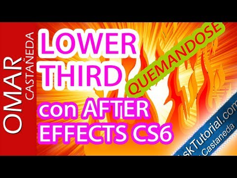 Lower Third Quemandose En After Effects Cs6 Parte 1
