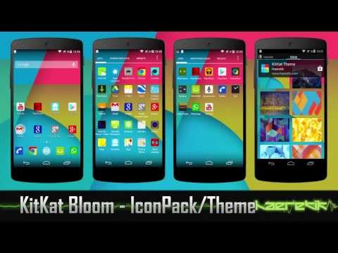 KitKat Bloom Icon Pack and Theme - Nova. Apex. GO Launcher EX and more...