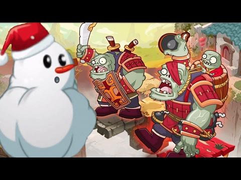 Plants Vs Zombies 2: Kung Fu Boss vs Snowman Plant! PvZ 2