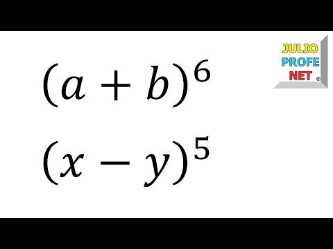 Desarrollo de un binomio con exponente seis-Development of a binomial with exponent 6