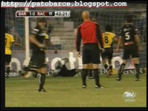Barcelona 2 Racing [Uruguay] 0. Goles en la Copa del Pacifico. 21: Enero: 2010