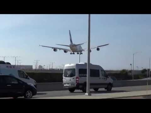 Emirates Airbus A380-861 (A6-EET) Landing in Los Angeles International Airport.