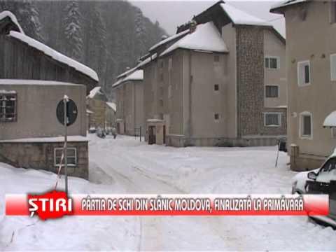 Pârtia de schi din Slănic Moldova, finalizată la primăvară - www.1tvbacau.ro (31.01.2014)