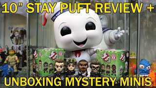 "UNBOXING: 10"" Stay Puft Funko Pop! + 16 Ghostbusters Mystery Minis!"
