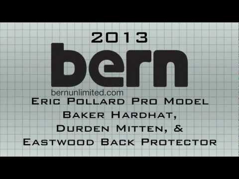 2013 Bern Unlimited Eric Pollard Pro Model Baker Hardhat & Bern Protection Gear