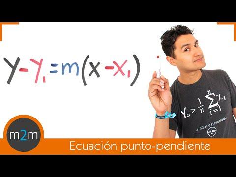 Ecuación de recta conociendo un punto y su pendiente (forma punto - pendiente)