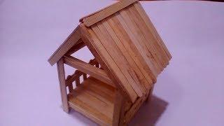 Cara Membuat Miniatur Rumah Panggung Dari Stik Es Krim