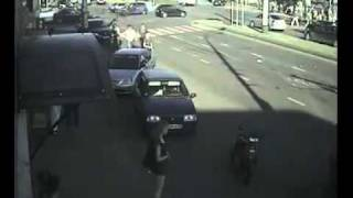 Ambulance vs car crash on intersection in Russia