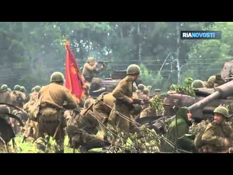 Hand to Hand Combat and Burning Tanks at Battle of Kursk Reenactment Image 1
