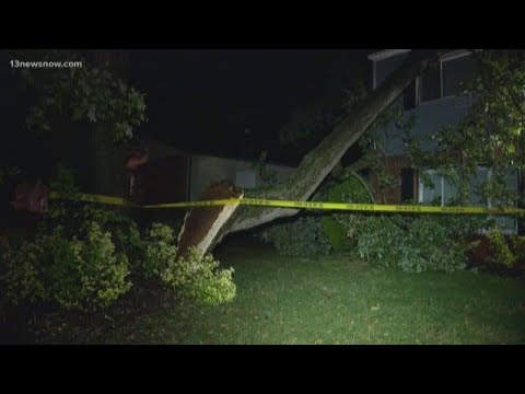 Strong storms lead to power outages, road closures in Hampton Roads