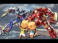 Wrong superheroes Upin Ipin Adit Sapo Jarwo Transform Robot Optimus Dance Finger Family Song