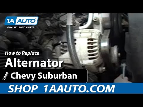 How To Install Replace Alternator Chevy Silverado Pickup Truck Suburban and Tahoe 1AAuto.com