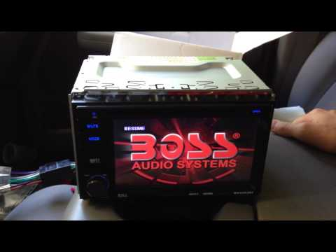 Boss Audio Installation and Tutorial - In-Dash Double Din BV9362BI - installation of backup camera