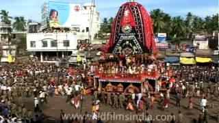 Devotees pulling the rath of Jagannath