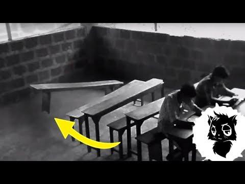 5 ПАРАНОРМАЛЬНЫХ ВЕЩЕЙ В ШКОЛЕ СНЯТЫХ НА КАМЕРУ [Черный кот]