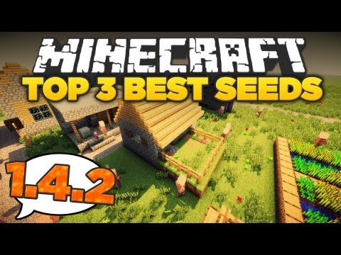 Minecraft 1.5: TOP 3 BEST SEEDS! (Temples, Awesome Mountains, Strongholds, Villages, Witches)