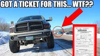 "I GOT A TICKET FOR MY ""ILLEGAL"" LIFTED TRUCK.. *IGNORANT COP*"