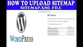 Upload Sitemap XML File | Register a Sitemap with Google | Tutorial