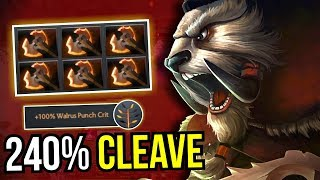 240% CLEAVE - 6x Battle Furry Tusk 55 Kills Rampage 7.09 Dota 2 | Upside Down 53