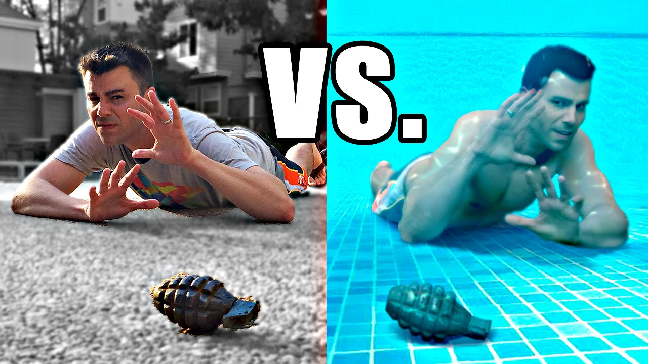 Do You Have A Better Chance Of Surviving A Grenade Blast On Land Or In Water?