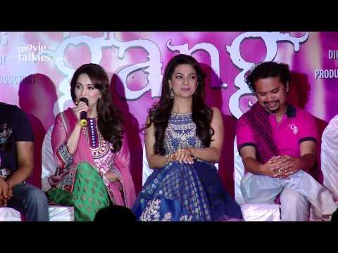 Madhuri Dixit, Juhi Chawla At 'Gulaab Gang' Press Conference