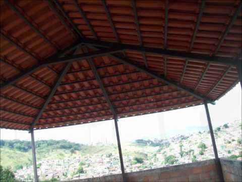 Telhado colonial com armação de ferro