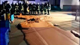 Río de chocolate aparece en calle de Alemania | Noticias con Francisco Zea
