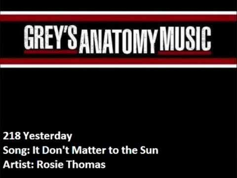 Rosie Thomas - It Dont Matter To The Sun