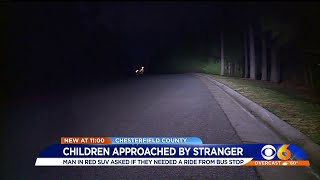 Children approached by stranger at bus stop