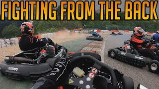 Fighting Through From The Back At Spa Kart Circuit
