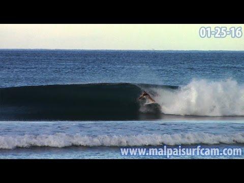 Santa Teresa Mal Pais, www malpaisurfcam com 01 25 16 Surfing Costa Rica
