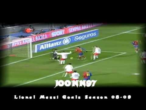 Lionel Messi - Fc Barcelona 38 Goals Season 2008-2009 ! NEW !