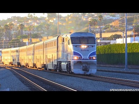 Amtrak Train ride from San Juan Capistrano to San Diego + BNSF & Coaster Trains (August 16th, 2014)
