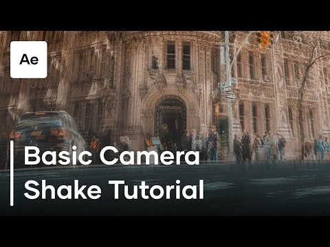 How To Create Basic Camera Shake In After Effects | Tutorial