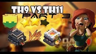 TH 9 VS TH11! Two STAR Attacks (Savage 8.9) Part 3
