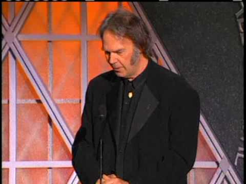 Neil Young inducts Paul McCartney 1999
