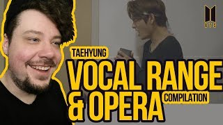 Mikey Reacts to Taehyung's Vocal Range & Opera Compilations